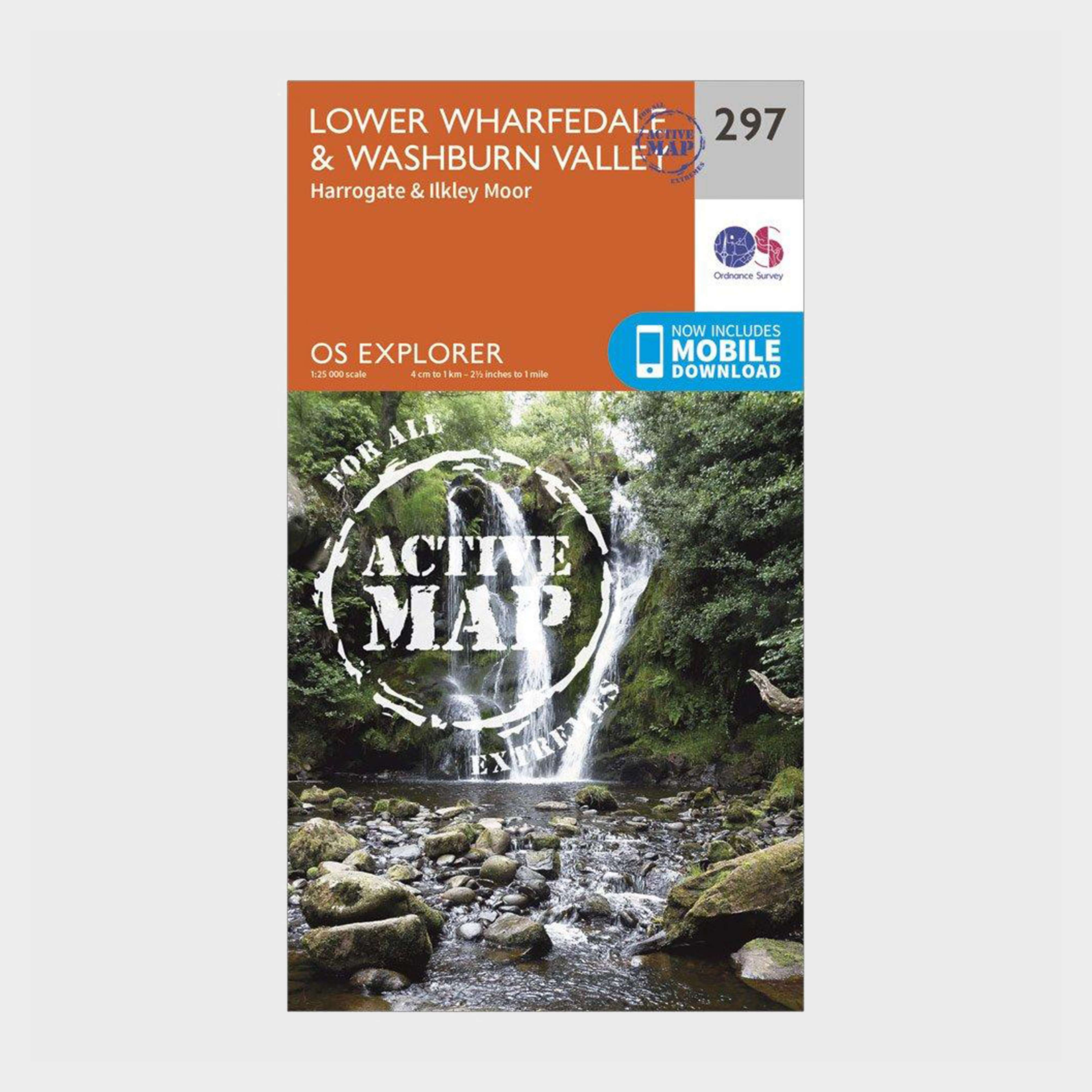 ORDNANCE SURVEY Explorer Active 297 Lower Wharfedale & Washburn Valley Map With Digital Version