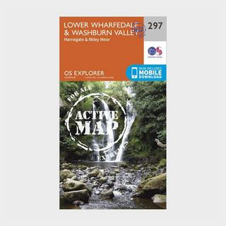 Explorer Active 297 Lower Wharfedale & Washburn Valley Map With Digital Version