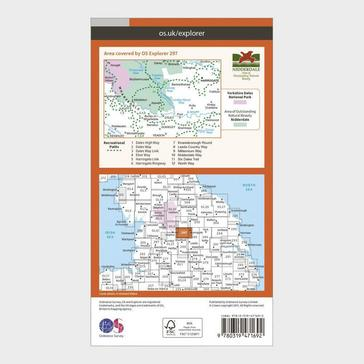 Orange Ordnance Survey Explorer Active 297 Lower Wharfedale & Washburn Valley Map With Digital Version