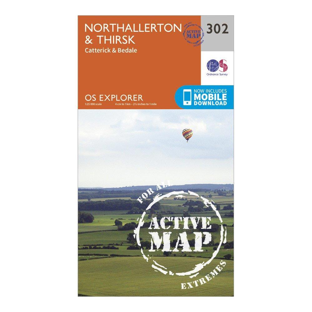 Ordnance Survey Ordnance Survey Explorer Active 302 Northallerton & Thirsk Map With Digital Version - Orange, Orange