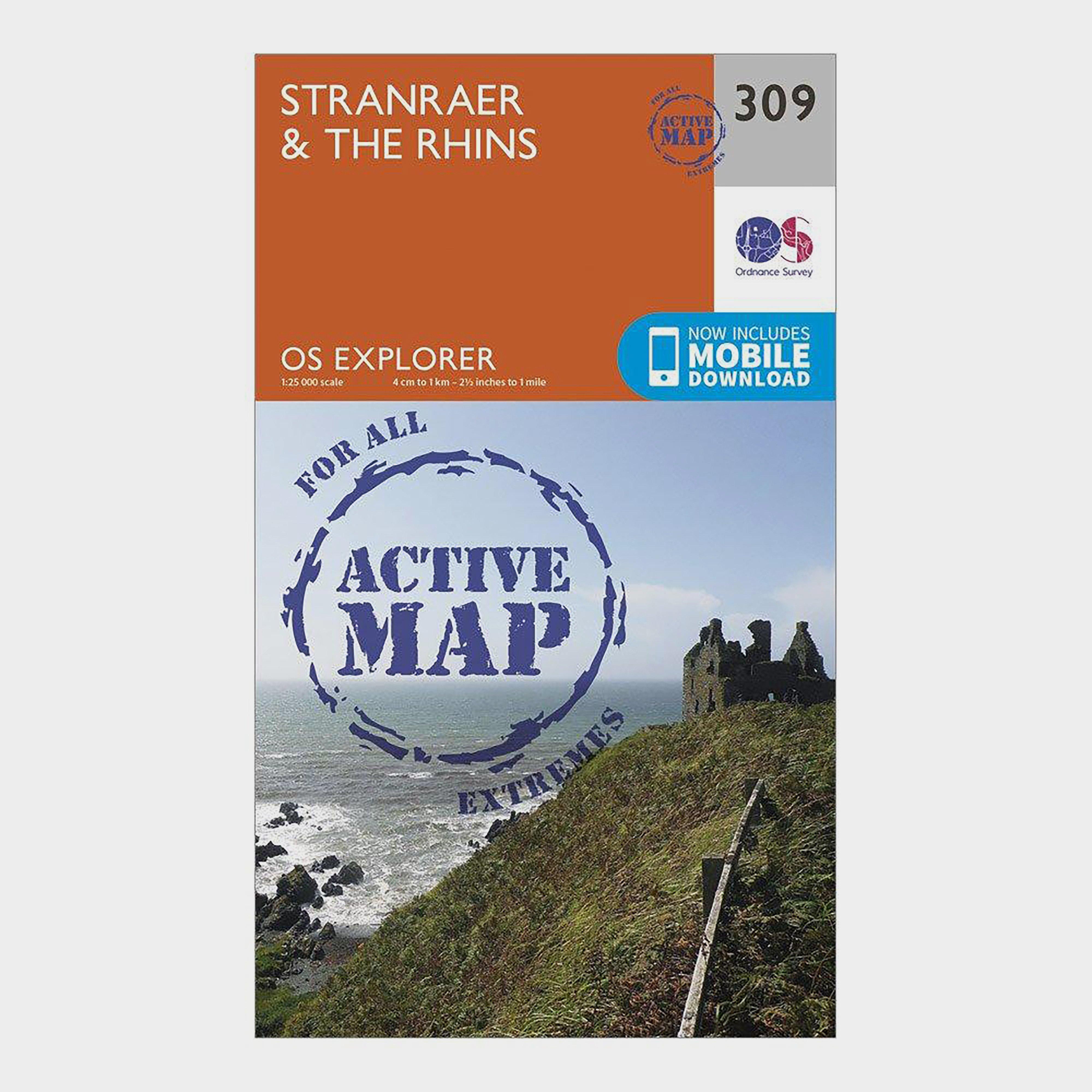 Ordnance Survey Ordnance Survey Explorer Active 309 Stranraer & The Rhins Map With Digital Version - Orange, Orange