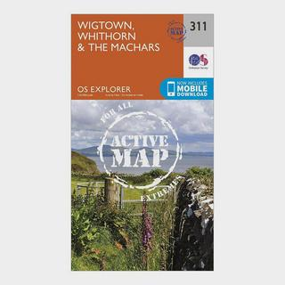 Explorer Active 311 Wigtown, Whithorn & The Machars Map With Digital Version