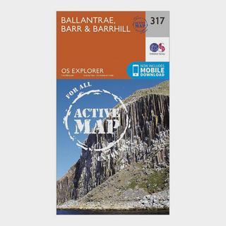 Explorer Active 317 Ballantrae, Barr & Barrhill Map With Digital Version