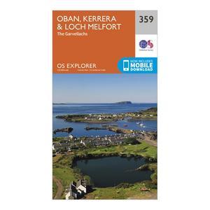 ORDNANCE SURVEY Explorer 359 Oban, Kerrera & Loch Melfort Map With Digital Version