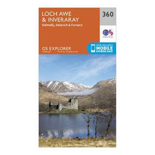 Explorer 360 Loch Awe & Inverarary Map With Digital Version