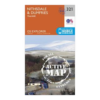 Explorer Active 321 Nithsdale & Dumfries Map With Digital Version