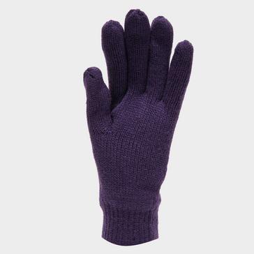 Purple Peter Storm Thinsulate Knit Fleece Gloves