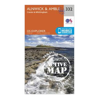 Explorer Active 332 Alnwick & Amble Map With Digital Version