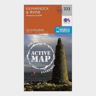 Explorer Active 333 Kilmarnock & Irvine Map With Digital Version