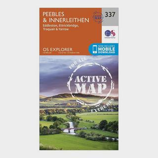 Explorer Active 337 Peebles & Interleithen Map With Digital Version