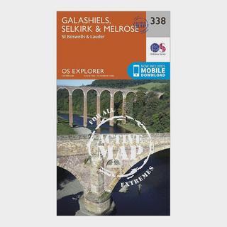 Explorer Active 338 Galashiels, Selkirk & Melrose Map With Digital Version