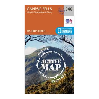 Explorer Active 348 Campsie Fells Map With Digital Version