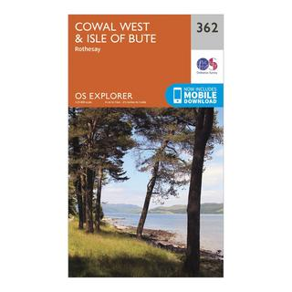 Explorer 362 Cowal West & Isle of Bute Map With Digital Version