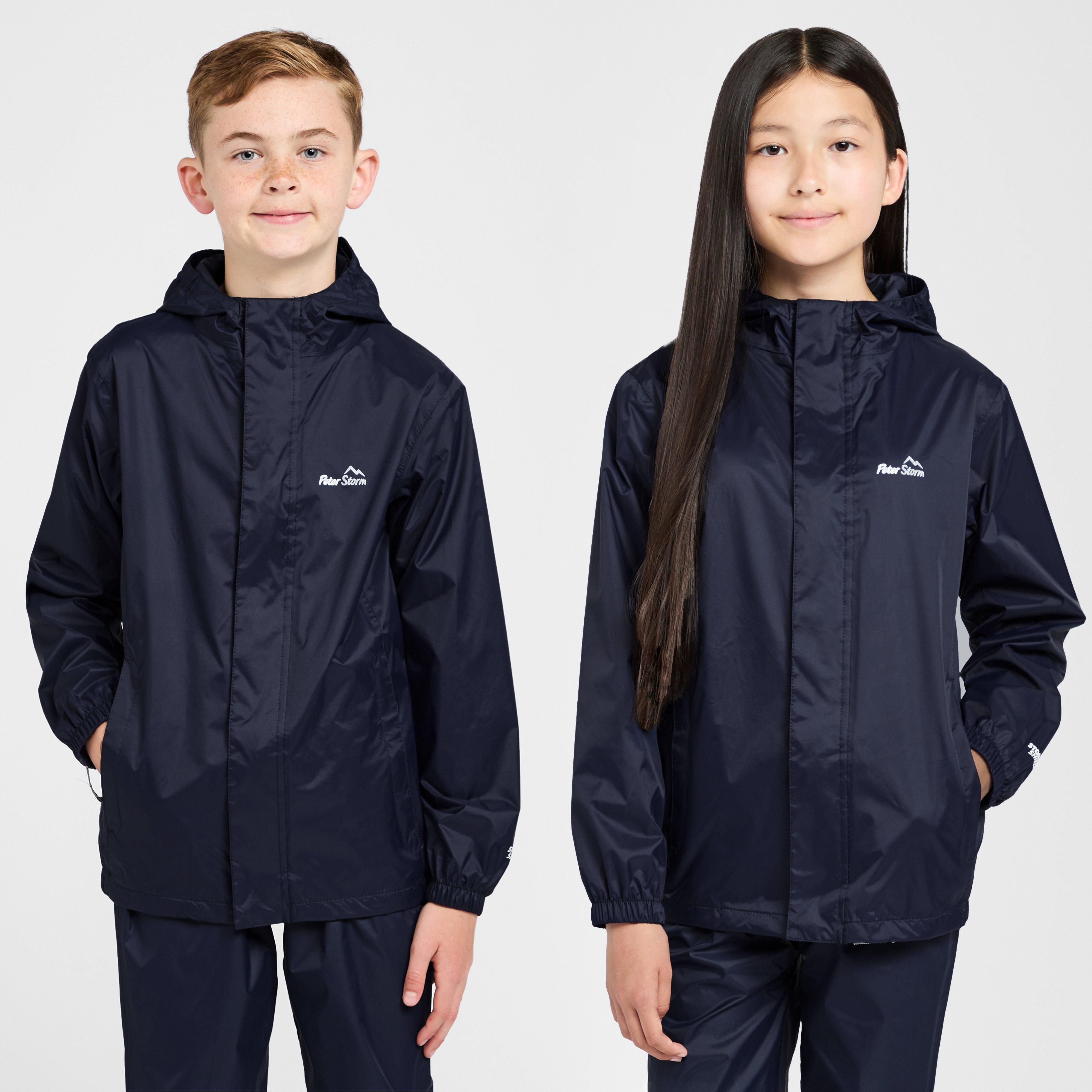 Image of Peter Storm Kids' Unisex Packable Waterproof Jacket - Blue/Blue, Blue/Blue