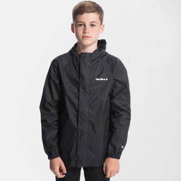 Black Peter Storm Kids' Packable Waterproof Jacket