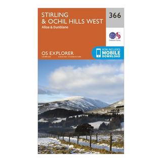 Explorer 366 Stirling & Ochil Hills Map With Digital Version