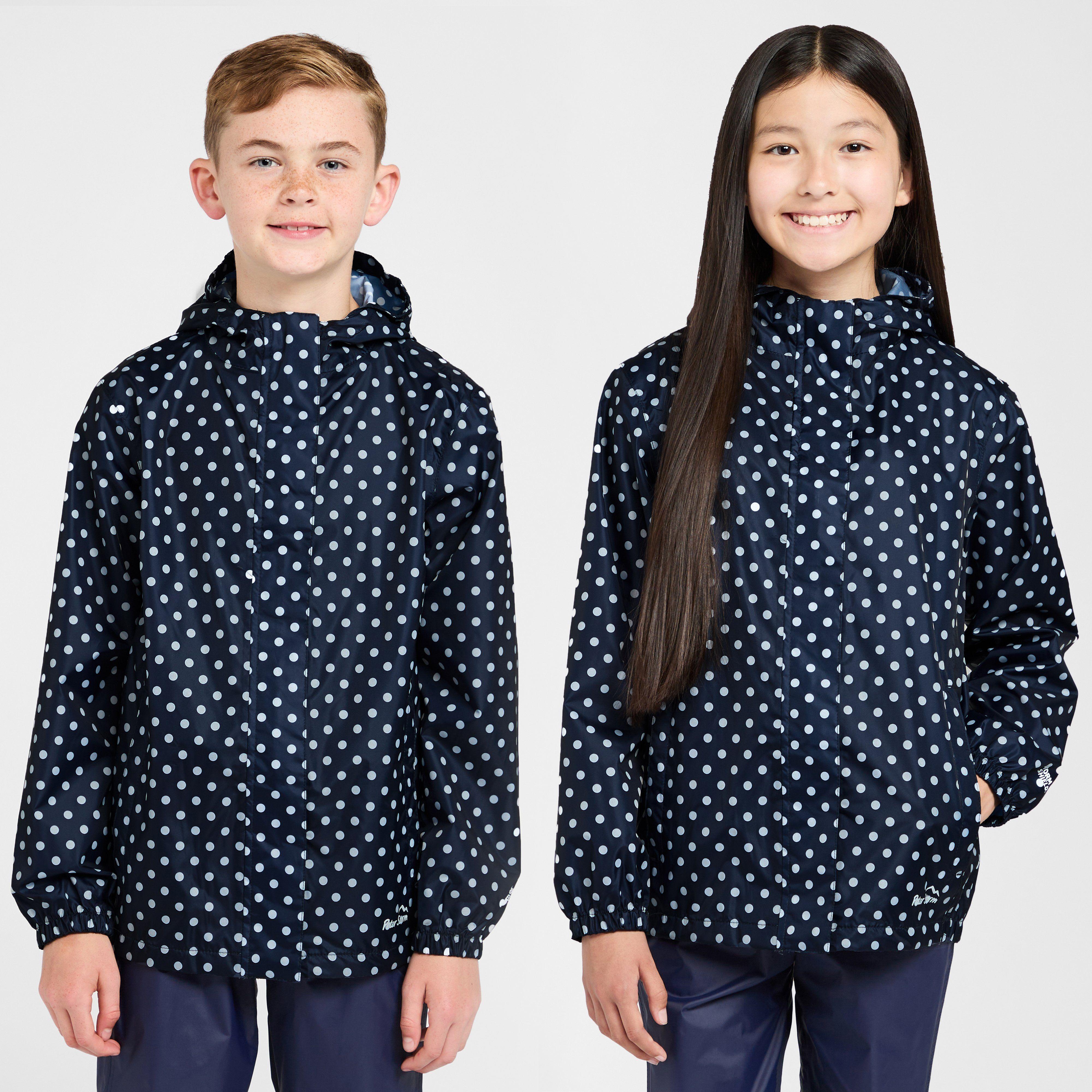 PETER STORM Girls' Packable Patterned Waterproof Jacket