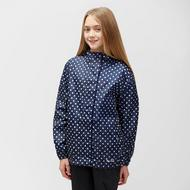 Girls' Packable Patterned Waterproof Jacket