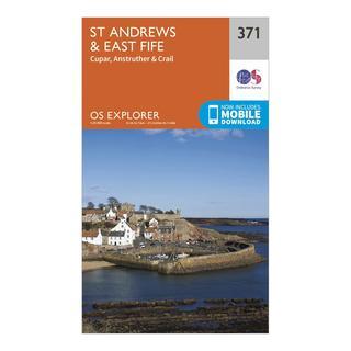 Explorer 371 St Andrews & East Fife Map With Digital Version