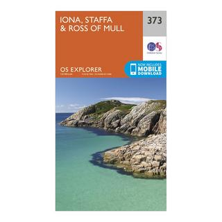 Explorer 373 Iona, Staffa & Ross of Mull Map With Digital Version