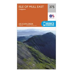 ORDNANCE SURVEY Explorer 375 Isle of Mull East Map With Digital Version