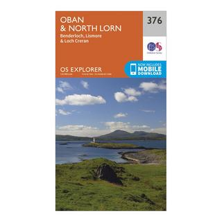 Explorer 376 Oban & North Lorn Map With Digital Version