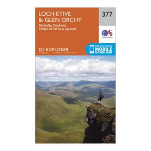 ORDNANCE SURVEY Explorer 377 Loch Etive & Glen Orchy Map With Digital Version