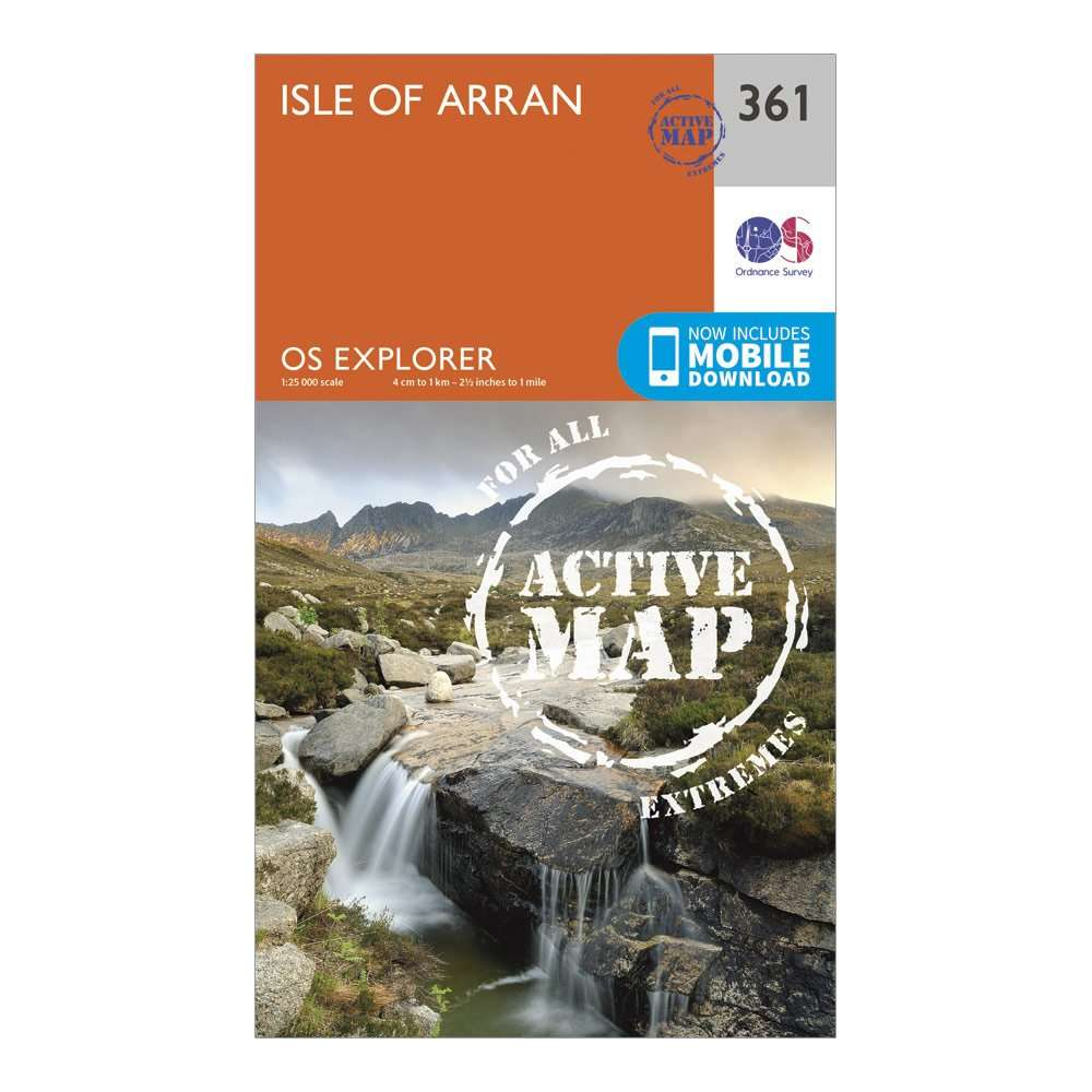 ORDNANCE SURVEY Explorer Active 361 Isle of Arran Map With Digital Version