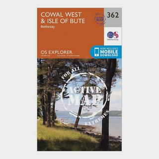 Explorer Active 362 Cowal West & Isle of Bute Map With Digital Version