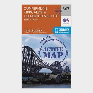 Explorer Active 367 Dunfermline, Kirkcaldy & Glenrothes South Map With Digital Version