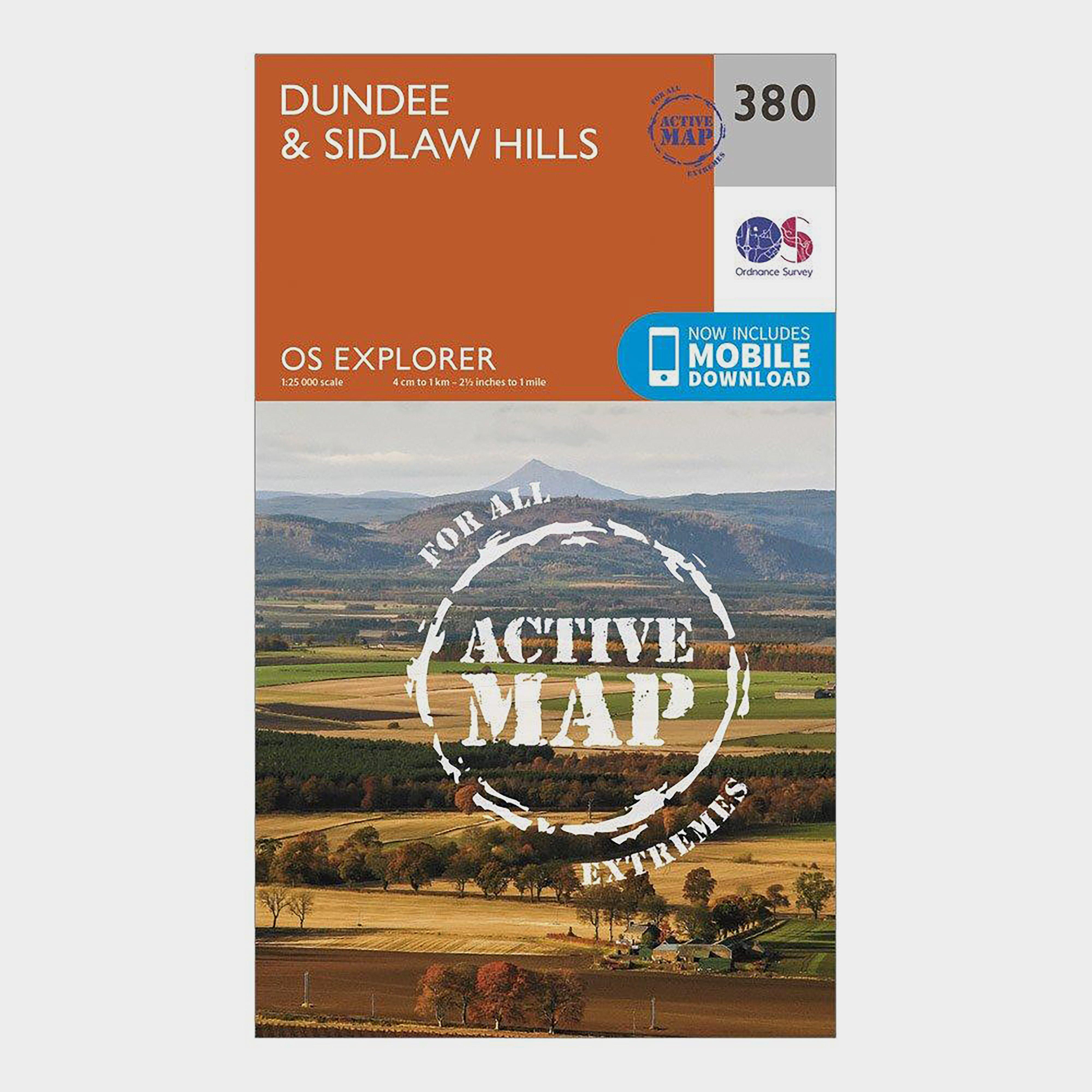 Ordnance Survey Ordnance Survey Explorer Active 380 Dundee & Sidlaw Hills Map With Digital Version - Orange, Orange
