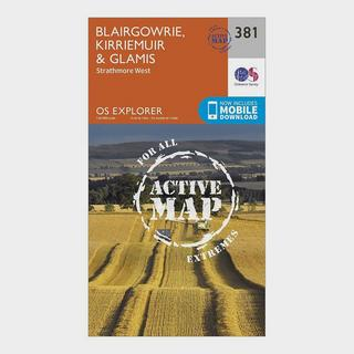 Explorer Active 381 Blairgowrie, Kirriemuir & Glamis Map With Digital Version