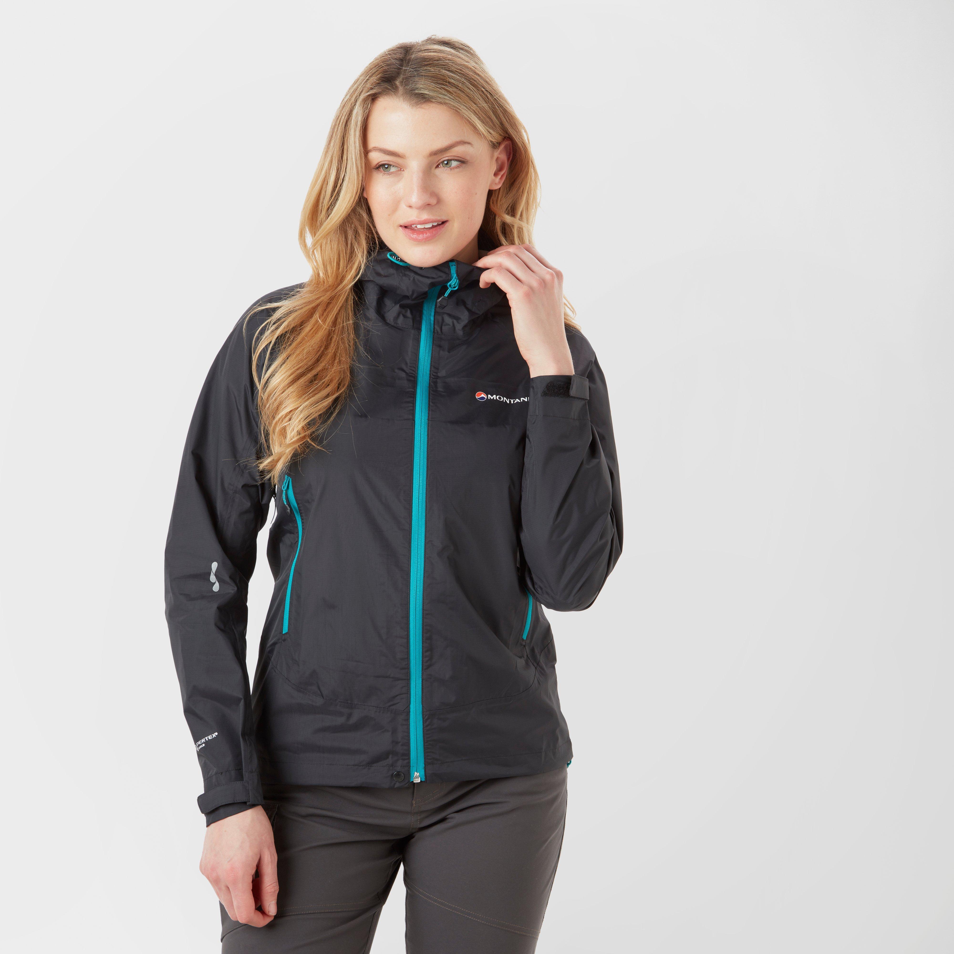 Montane Montane womens Atomic Waterproof Jacket - Black, Black