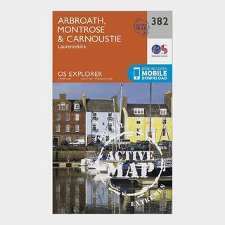 Explorer Active 382 Arbroath, Montrose & Carnoustie Map With Digital Version