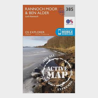 Explorer Active 385 Rannoch Moor & Ben Alder Map With Digital Version