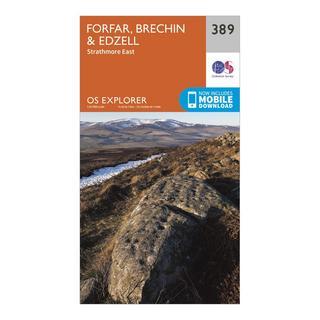 Explorer 389 Forfar, Brechin & Edzell Map With Digital Version