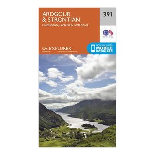 Explorer 391 Ardgour & Strontian Map With Digital Version