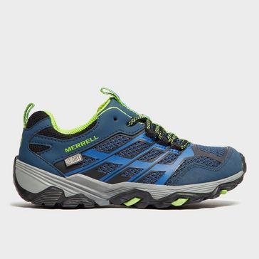 6aca6f17852a Blue MERRELL Moab FST Low Waterproof Shoe ...