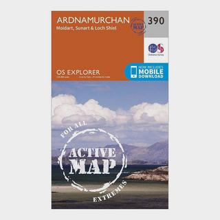 Explorer 390 Ardnamurchan Map With Digital Version
