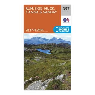 Explorer 397 Rum, Eigg, Muck, Canna & Sanday Map With Digital Version