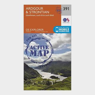Explorer Active 391 Ardgour & Strontian Map With Digital Version