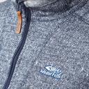 Grey|Grey Weird Fish Men's Beaufort Half-Zip Fleece image 5