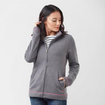 Grey Weird Fish Women's Grange Full-Zip Fleece