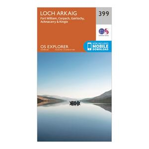 ORDNANCE SURVEY Explorer 399 Loch Arkaig Map With Digital Version