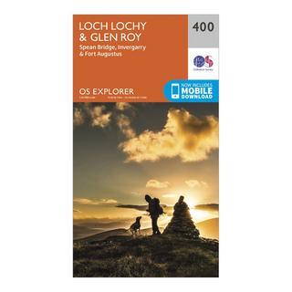 Explorer 400 Loch Lochy & Glen Roy Map With Digital Version