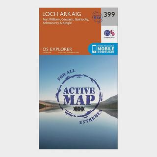 Explorer Active 399 Loch Arkaig Map With Digital Version