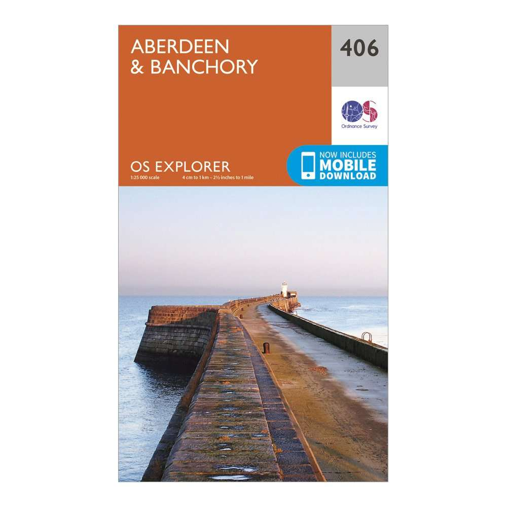 ORDNANCE SURVEY Explorer 406 Aberdeen & Banchory Map With Digital Version