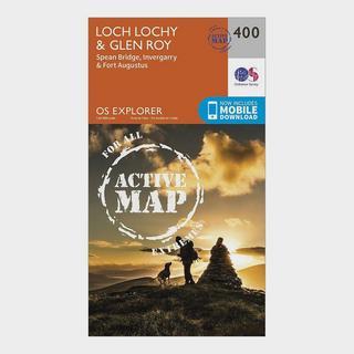 Explorer Active 400 Loch Lochy & Glen Roy Map With Digital Version