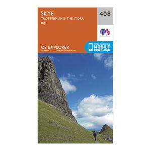 ORDNANCE SURVEY Explorer 408 Skye - Trotternish & The Storr Map With Digital Version