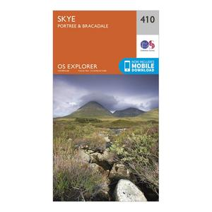 ORDNANCE SURVEY Explorer 410 Skye - Portree & Bracadale Map With Digital Version